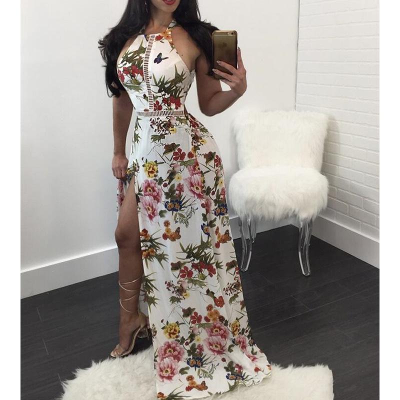 Vestido branco com estampado