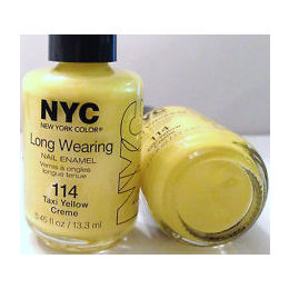 NYC,  New York Color Long Wearing Dry Nail enamel, Taxi Yellow Creme 114, 13.3ml