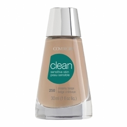 CoverGirl  Base Facial para o Rosto Clean Sensitive  Skin 250,  creamy beige, 30ml