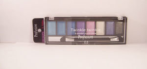 Sombra Brilhante Twinkle Twinkle 8 Shades Eyeshadow Palette, #3, 8g.  -Profusion