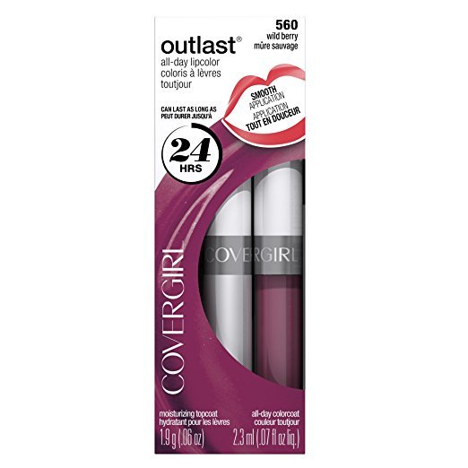 COVERGIRL batom e brilho labial Outlast All Day Two-Step 560 Wild berry