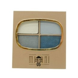 Milani sombra para os olhos,  Eye Shadow Quad, 05 Denim Blues , 10g.