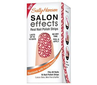 Sally Hansen, Adesivos para unhas, Salon Effects Real Nail Polish Strips, Cross My Heart
