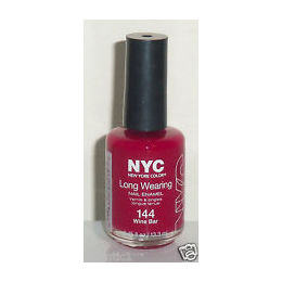NYC, New York Color Long Wearing nail enamel, 144 Wine Bar, 13.3ml