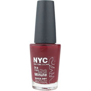 NYC- New York Color In a New York Color Minute Quick Dry Nail Polish,  205 Columbus Circle Crimson, 9.7ml.