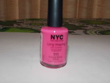 NYC,  New York Color Long Wearing Dry Nail enamel, Fuschsia Shock Creme  111,  13.3ml