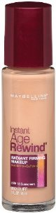 Maybelline  base para o rosto, Instant Age Rewind Radiant Firming Makeup , 260 Buff e 340 Tan 30ml