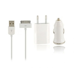 Kit Carregador Veicular + Energia Iphone 4/4S, Iphone 3/3GS.