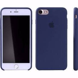 Case Silicone Azul Marinho - IPhone Original