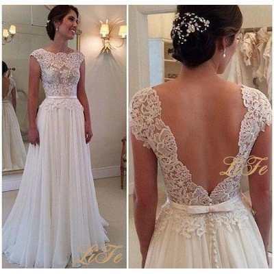 Vestido de renda simples noiva