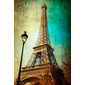 QUADRO VINTAGE PARIS EIFFEL OLD PHOTO