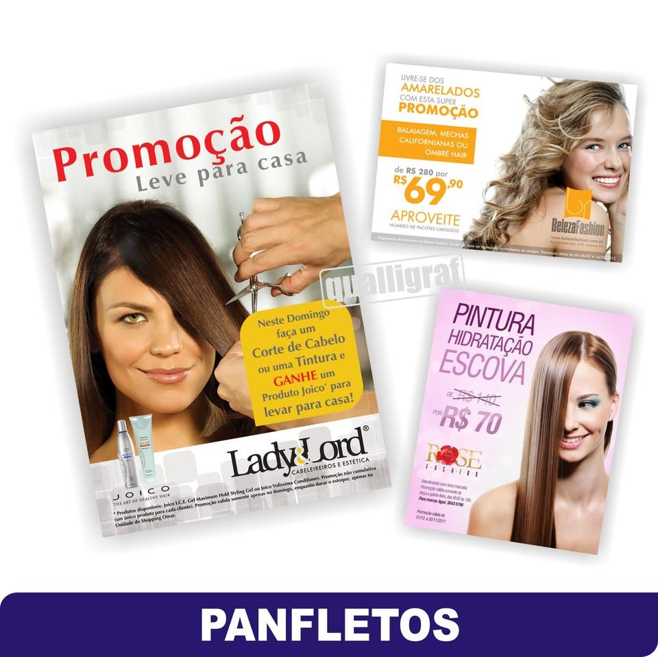 Super Panfletos para Salão de Beleza - Gráfica em Curitiba (41) 3018-5567 TL19