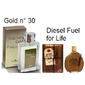 Traduções Gold nº 30 Masculino 100 ml Referencia Olfativa Diesel Fuel for Life