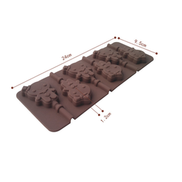 Molde de silicone para chocolate Gingerbread Boy/ Girl