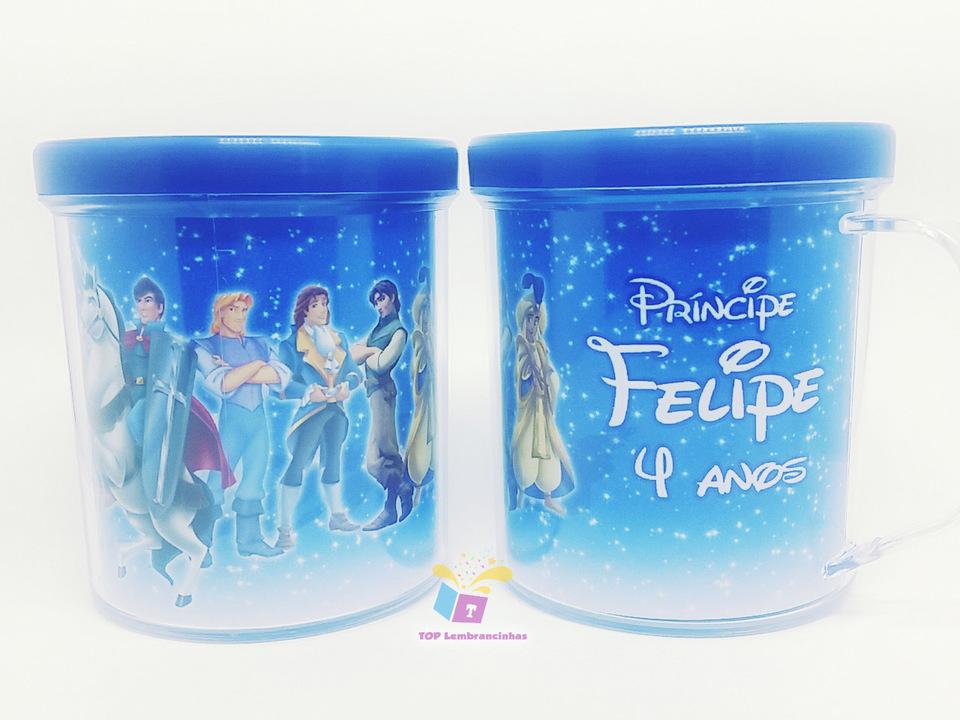 Caneca acrílica Príncipes Disney - Lembrancinha
