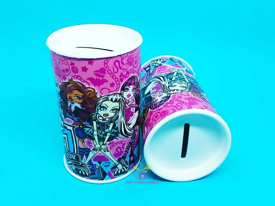 Cofrinho personalizado Monster High 11x6 cm