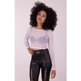 Cropped Transparence M/L Branco