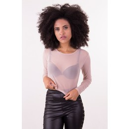 Cropped Transparence M/L Rosê