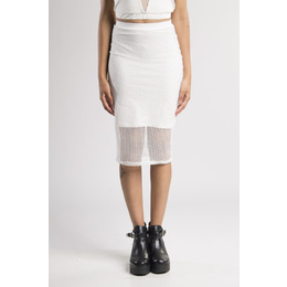 Saia Midi Arrastão Off White
