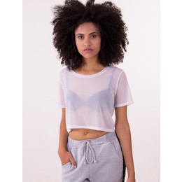 Cropped Transparence Branco