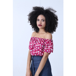 Cropped Ciganinha Floral Rosa