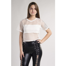 Cropped Arrastão Off White