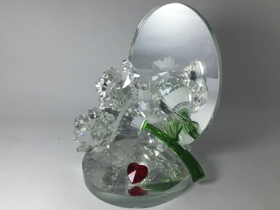 Enfeite De Vidro ~ Enfeite De Vidro Flor Com Espelho Miniatura Atacado LIBERDADE ONLINE PRESENTES