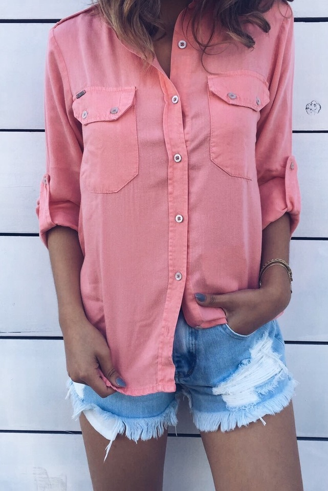 Camisa Color Diana Coral
