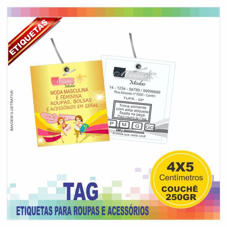 Muitas vezes Tag etiquetas para roupas e acessórios impressão colorida frente e  FW55