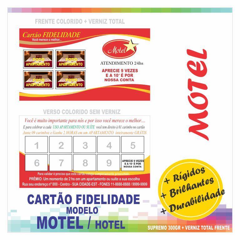 Fabuloso Cartão FIDELIDADE supremo 300gr + verniz total frente / colorido  TT94