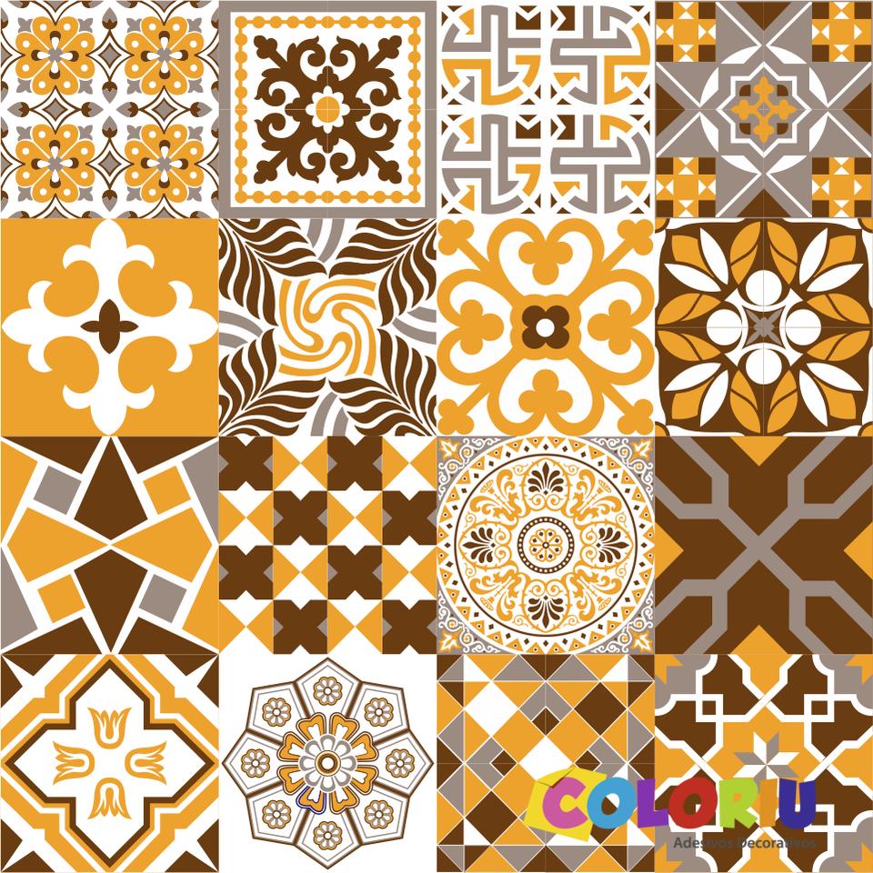 Adesivos azulejos hidr ulicos az 001 coloriu for Azulejos hidraulicos cocina