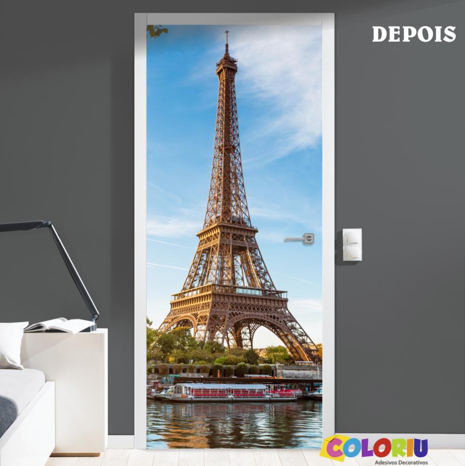 Adesivo Para Porta Torre Eiffel Coloriu -> Adesivo Para Fotos