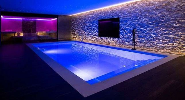 Refletor ilumina o piscina power led azul 4 5w 12m tholz - Leds para piscinas ...