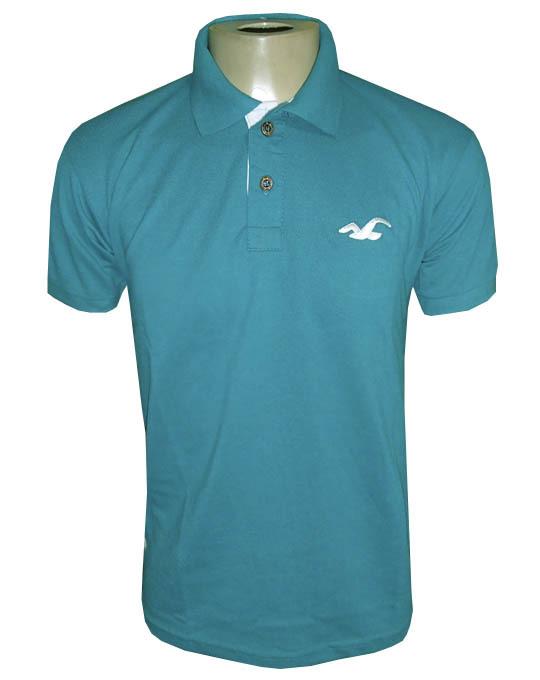 Camisa Polo Hollister Verde Ciano Lisa - MWgrifes - Aqui é Top! d9e54e56adac9