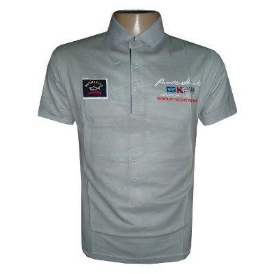Camisa Polo Paul e Shark Cinza - MWgrifes - Aqui é Top! 40509d0b32683