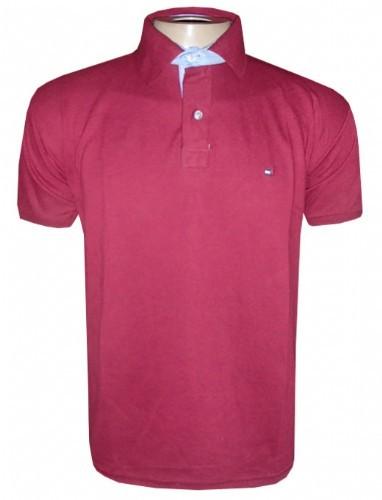 Camisa Polo Tommy Hilfiger Vinho Lisa TH0 ea0b3ffc6f8cb