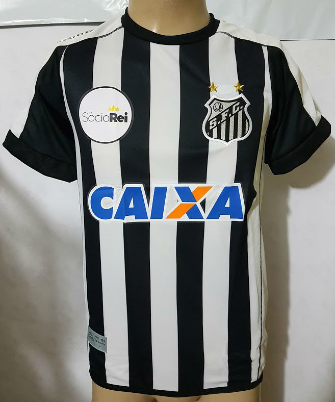 Camisa Santos Listrada 2017 - MWgrifes - Aqui é Top! 8380683a8c88f