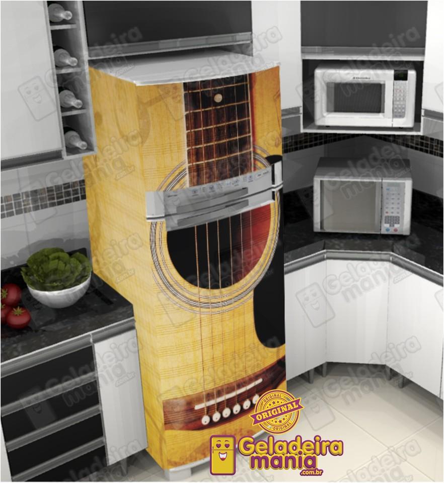 Artesanato Feltro Passo A Passo ~ Adesivo Envelopamento de Geladeira VI077 VIOLÃO Envelope Geladeira fridge decorations