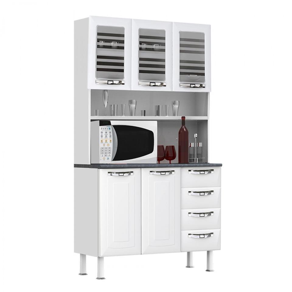 Kit Cozinha Colormaq Class Slim Em Com 5 Portas 4 Gavetas Com