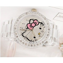 Pronta Entrega - Relógio Hello Kitty Crystal Quartz