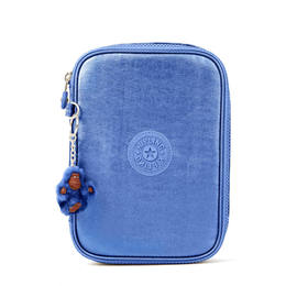 Estojo Kipling 100 Pens Metallic Blue