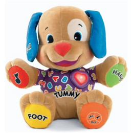 Dog Plush Musical Fisher Price  - Cachorro Azul de Pelúcia