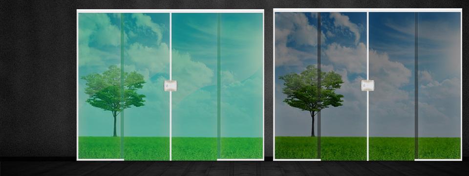 Porta de vidro temperado verde 2 10x2 00 4 folhas for Porta 4 folhas de vidro temperado