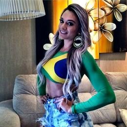 Top Cropped Bandeira do Brasil