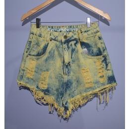 Hot Pants - Short Jeans Cintura Alta