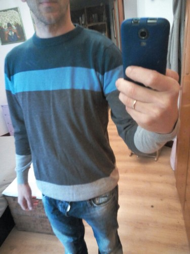 Pullover Pulôver masculino em Lã para Inverno - 3 cores - Manga comprida e Gola em O