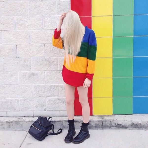 Resultado de imagem para rainbow moletom