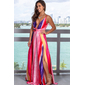 Vestido longo estampado colorido