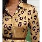 Vestido camisa estampa leopardo