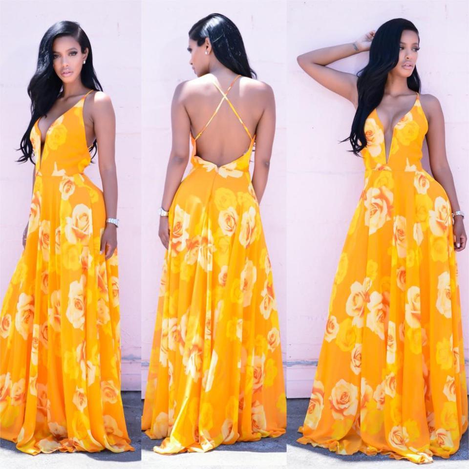 Vestido longo amarelo floral exclusive store importados vestido longo amarelo floral thecheapjerseys Choice Image